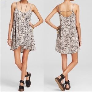 Free People Spring It On Paisley Slip Dress Sz S